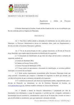 Decreto N° 4.036 - Prefeitura Municipal de Erechim