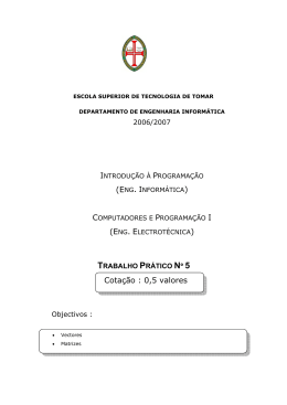 Ficha prática - Departamento de Engenharia Electrotécnica