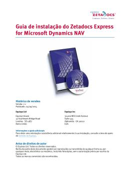 Guia de instalação do Zetadocs Express for Microsoft