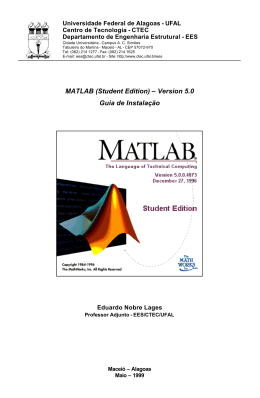 MATLAB (Student Edition) - Universidade Federal de Alagoas