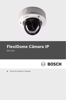 FlexiDome Câmara IP - Bosch Security Systems