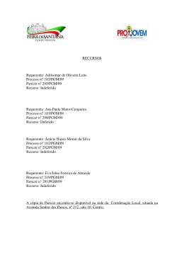 RECURSOS Requerente: Adilsomar de Oliveira Leite Processo nº