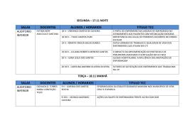 salas docentes alunos / horarios titulo tcc