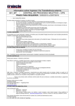 Informativo sobre Ingresso Via Transferência externa 001_MT