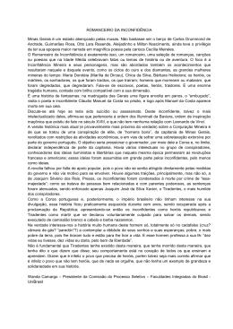 ROMANCEIRO DA INCONFIDÊNCIA Minas Gerais é um estado