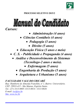 Manual Prosel - Faculdade Vale do Cricaré