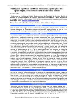 83. instituições e políticas científicas no século xx - HCTE