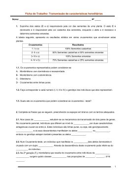 Ficha de Trabalho: Transmissão de características hereditárias