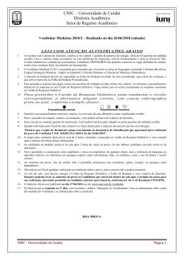 UNIC – Universidade de Cuiabá Diretoria Acadêmica Setor de