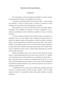 PRECIPITAO ESTEQUIOMTRICA