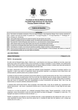 Prova 2010.2 - língua: Espanhol (com gabarito)