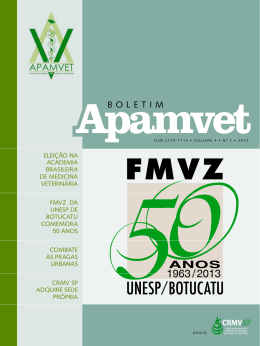 BOLETIM - APAMVET- Academia Paulista de Medicina Veterinária