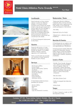 Hotel Oásis Atlântico Porto Grande ****