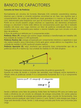 do arquivo Banco de capacitores em PDF