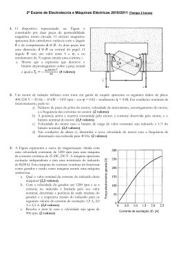 2º Exame de Electrotecnia e Máquinas Eléctricas 2010/2011