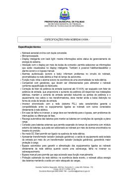 ESPECIFICAÇÕES PARA NOBREAK 6 KWA