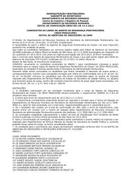 ADMINISTRAÇÃO PENITENCIÁRIA GABINETE DO SECRETÁRIO