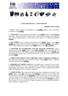 COMANDOS BÁSICOS – CHECK PRONTO