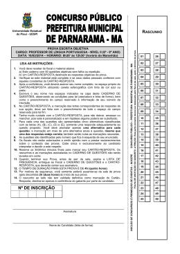 PROVA PROFESSOR DE LÍNGUA PORTUGUESA - Nucepe