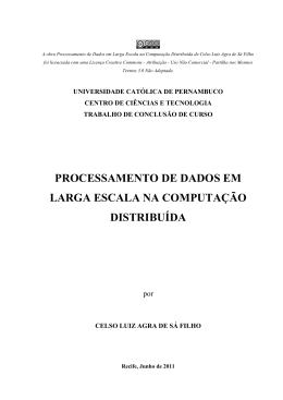 PROCESSAMENTO DE DADOS EM LARGA ESCALA NA