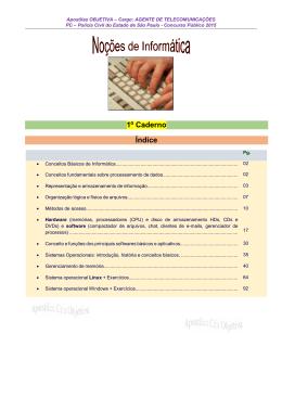 Noções de Informática - Caderno 1