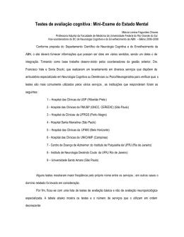 Mini-Exame do Estado Mental - Academia Brasileira de Neurologia