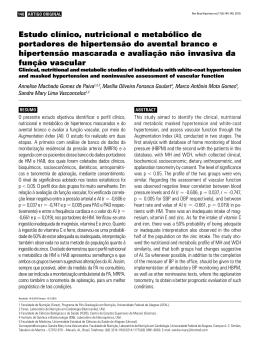 Estudo clínico, nutricional e metabólico de portadores de