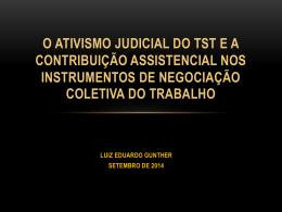 Apresentação Ativismo Judicial TST e a Contribuição