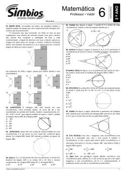 08 - SB-07 - Lista 06 - Arcos e Potência de um ponto