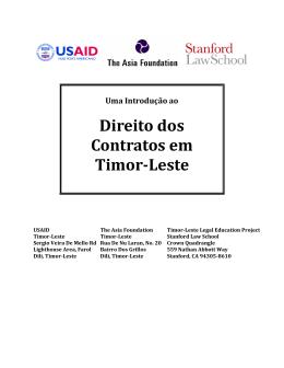 Introdução ao Direito dos Contratos em Timor