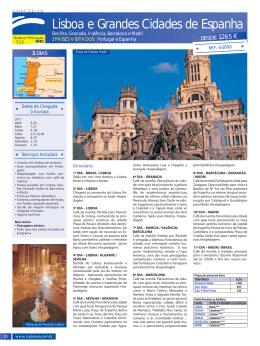 Título de Página Lisboa e Grandes Cidades de Espanha
