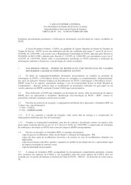 (CIRCULAR CAIXA 452-2008 - Devolução)