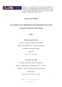 An Evaluation of the Administrative Decentralization Process of the