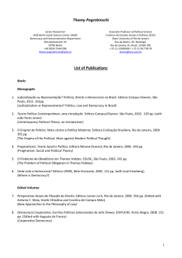 Thamy Pogrebinschi List of Publications
