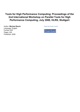 Tools for High Performance Computing: Proceedings of the 2nd