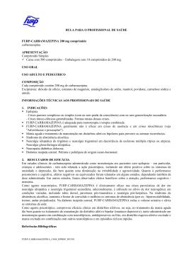 Bula Profissional - Furp - Governo do Estado de São Paulo