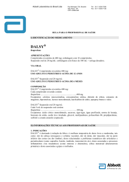 DALSY 400 mg COMPRIMIDO (bula do profissional)