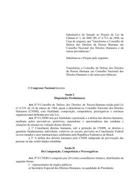Substitutivo do Senado ao Projeto de Lei da Câmara nº 1