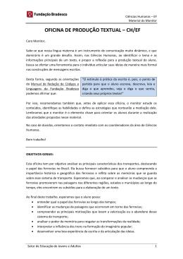 OFICINA DE PRODUÇÃO TEXTUAL – CH/EF