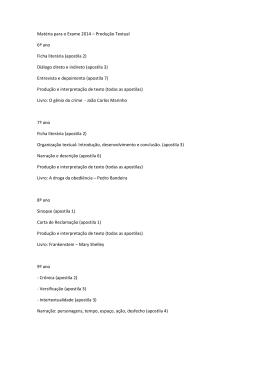 Matéria para o Exame 2014 – Produção Textual 6º ano
