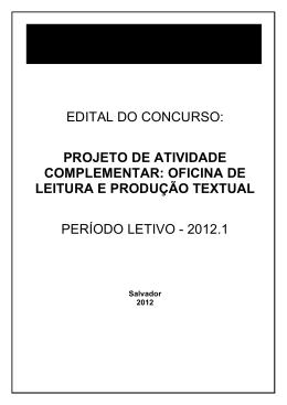 oficina de leitura e produção textual período letivo