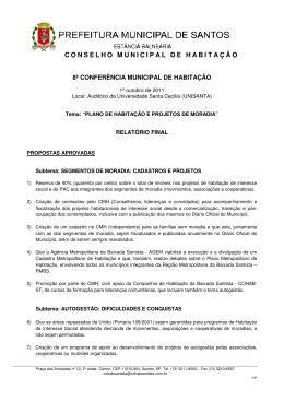 RELATÓRIO FINAL - 8COMH - Companhia de Habitação da