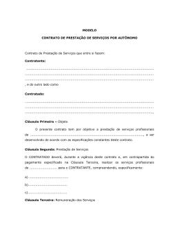 CONTRATO DE PRESTAÇÃO DE SERVIÇOS POR AUTÔNOMO