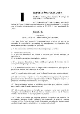 RESOLUÇÃO Nº 36/04-COUN - Universidade Federal do Paraná