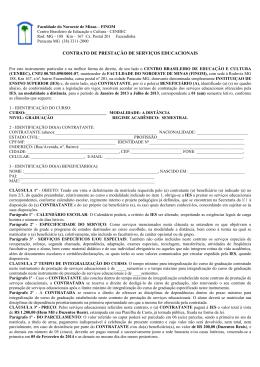 Contrato de Prestação de Serviços Educacionais dos