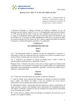 RDC 23 Anvisa