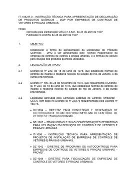 IT-1052.R-0 - INSTRUÇÃO TÉCNICA PARA