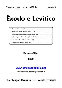 Êxodo e Levítico - Estudos da Bíblia
