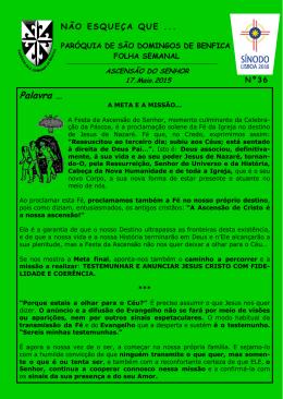 Ascensão do Senhor - Paróquia São Domingos de Benfica