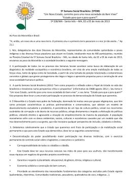 """5ª Semana Social Brasileira (5ªSSB) """"Um Novo Estado, caminho"""